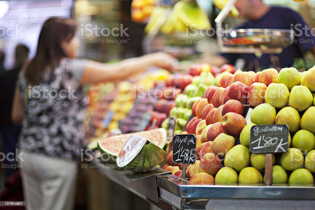 La Boqueria market royalty-free stock photo