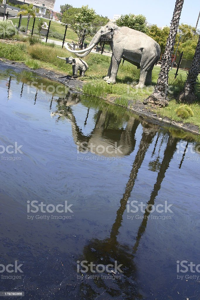 La Brea Tar Pits royalty-free stock photo