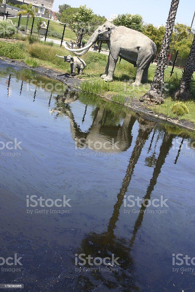 La Brea Tar Pits stock photo