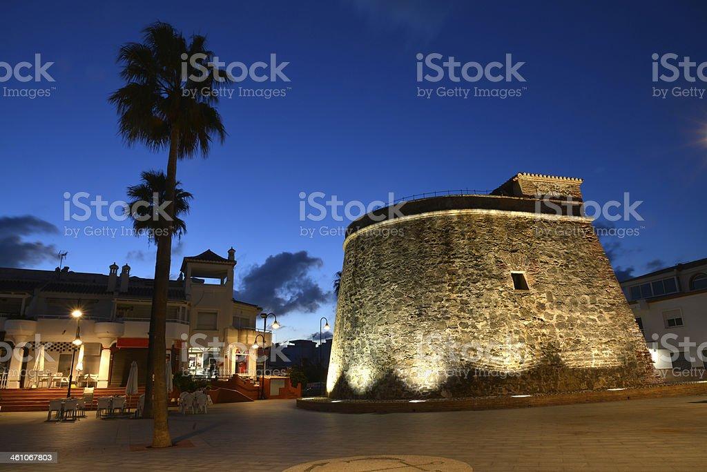 La Cala watch tower royalty-free stock photo