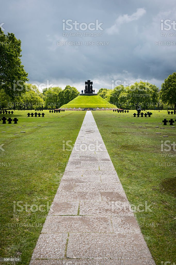 La Cambe German war cemetery in Normandy, France stock photo