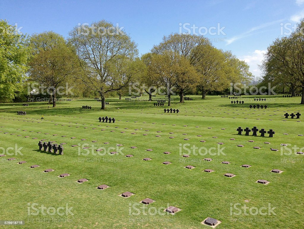 La Cambe German war cemetery stock photo