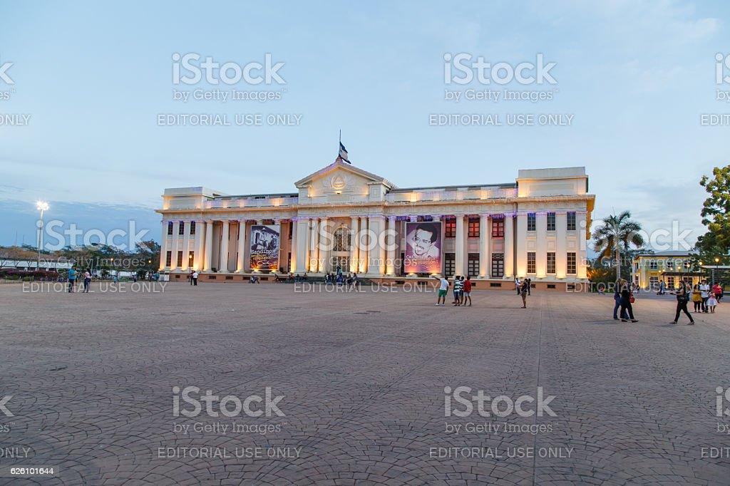 La Casa de Los Pueblos former Presidential Palace stock photo