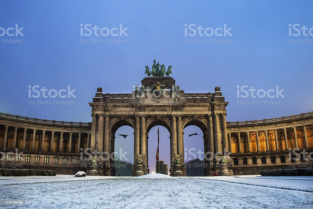 La Cinquantenaire in Brussels stock photo