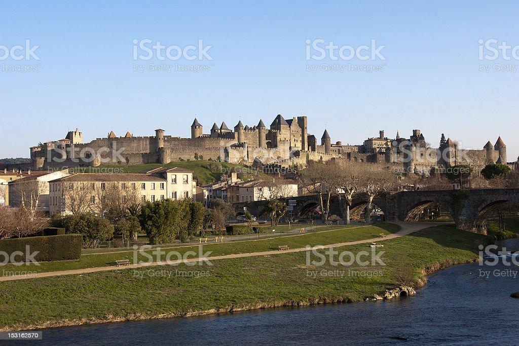 La Cite de Carcassonne stock photo