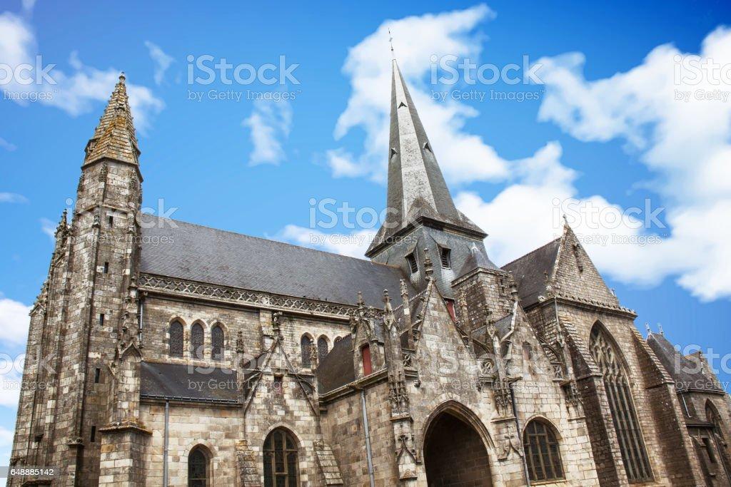 La collégiale Saint Aubin de Guérande, monument historique, Loire atlantique, Pays de loire stock photo