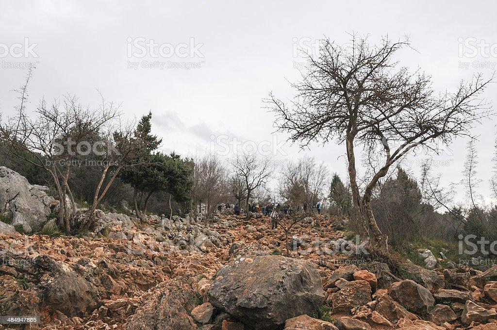 La colline des apparitions stock photo