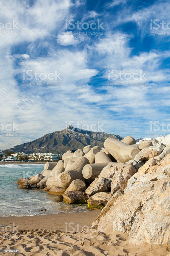 La Concha Mountain, Spain stock photo