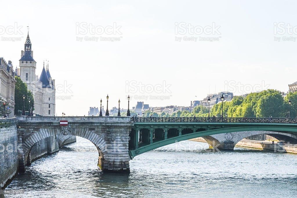 La Conciergerie and bridge Notre-Dame, Paris stock photo