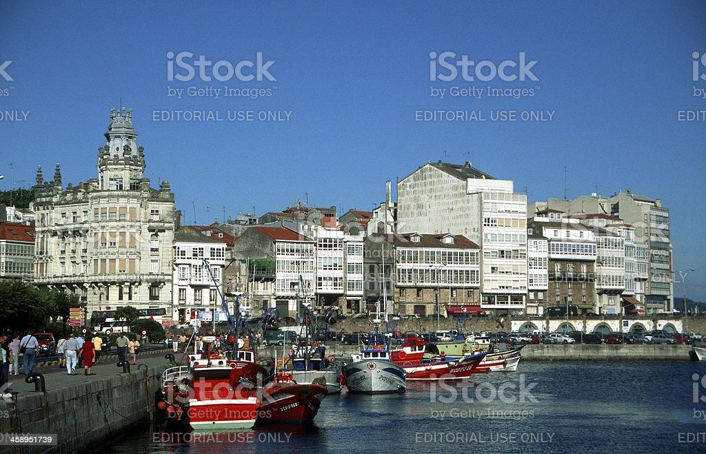La Coruña harbor stock photo