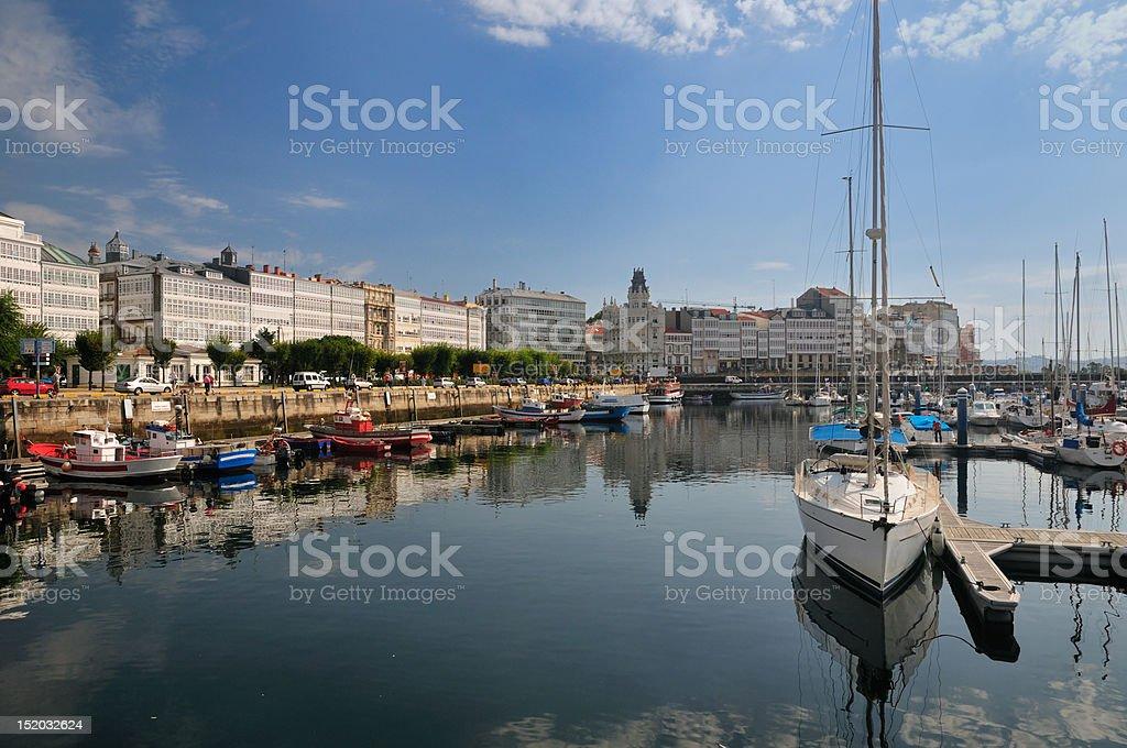 La Coruña (Galicia) - Puerto stock photo