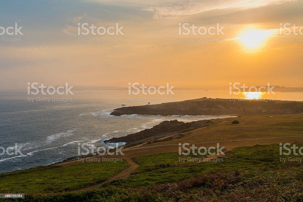 La Coruna coast. stock photo