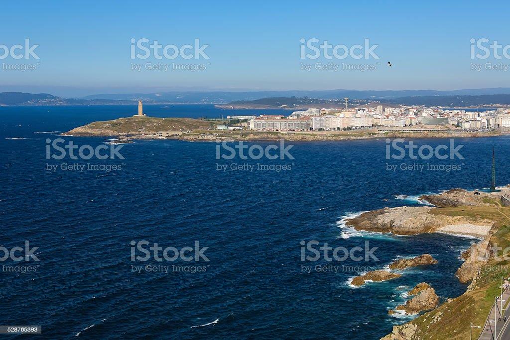 La Coruna - Tower of Hercules stock photo