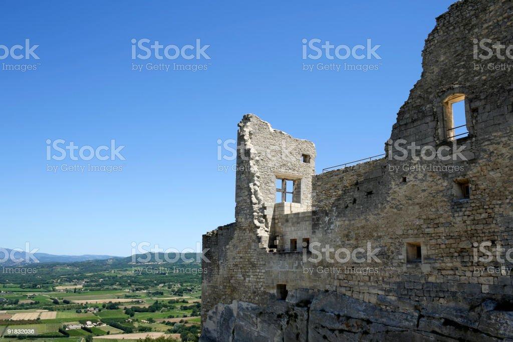la coste castle ruins south of france stock photo