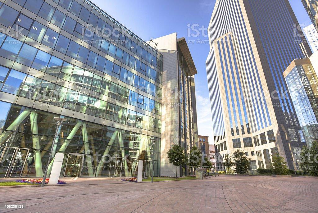 La Defense financial district royalty-free stock photo