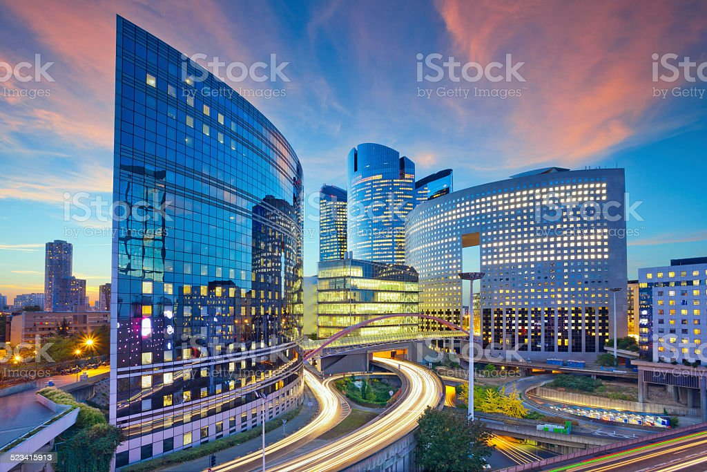 La Defense, Paris. stock photo