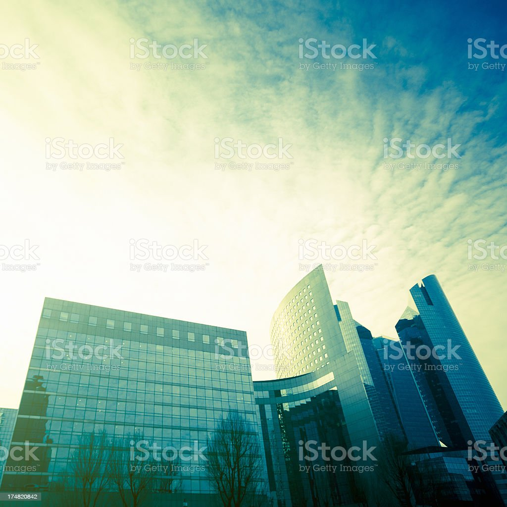 La Defense skyscraper in Paris royalty-free stock photo