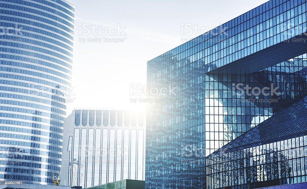 La Defense skyscraper in Paris royalty-free stock photo
