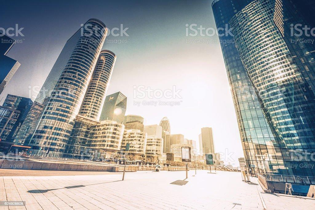 La Defense skyscraper in Paris stock photo