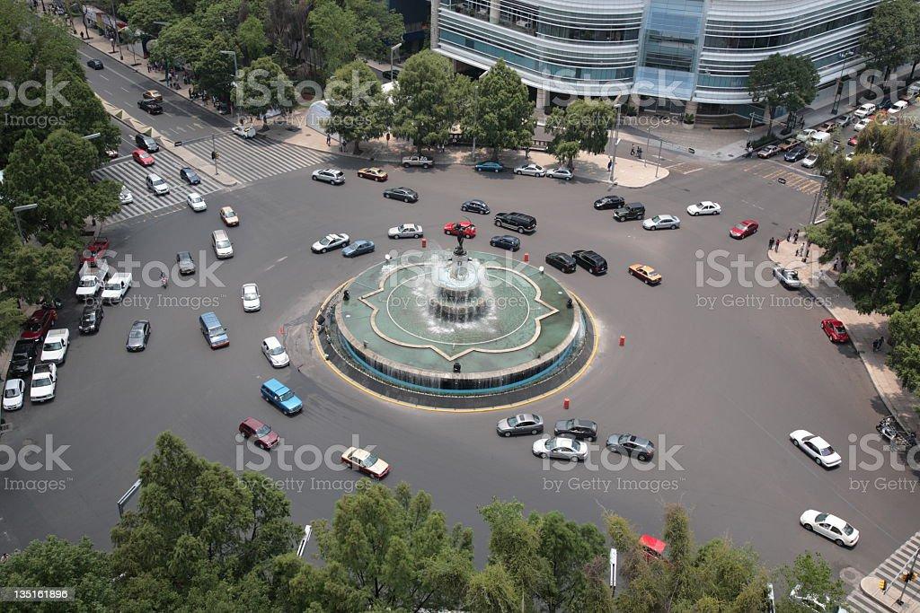 La Diana Fountain in Mexico city, Mexico royalty-free stock photo