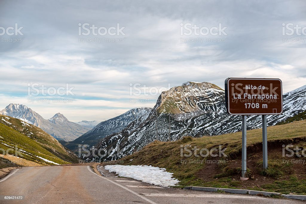 La Farrapona, High Mountain Road in Somiedo Natural Park stock photo