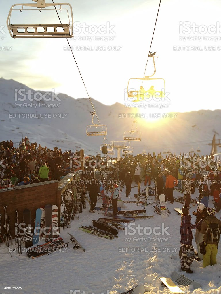 La Folie Douce, Val Thorens stock photo