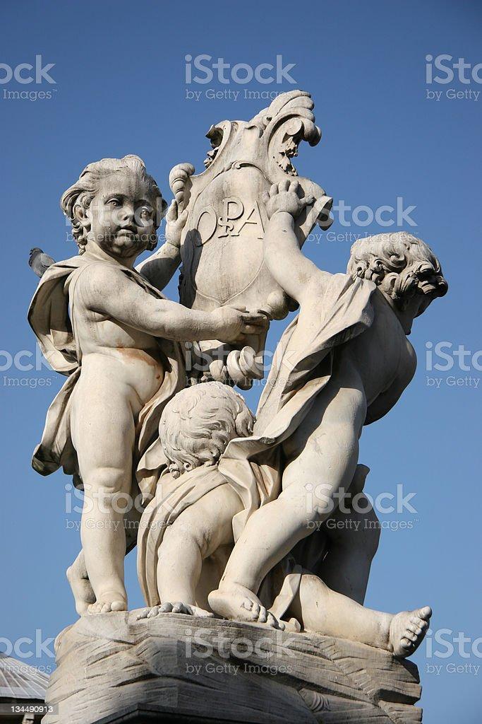 La Fontana dei Putti stock photo