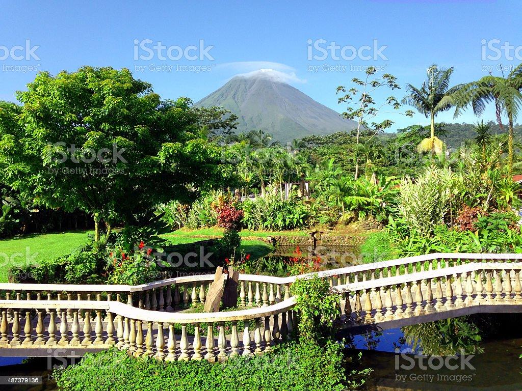 La Fortuna Volcano View stock photo