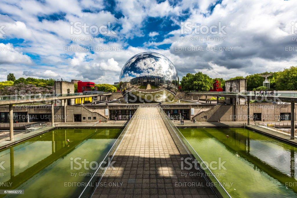 La Geode, Parc de la Villette, Paris, France stock photo