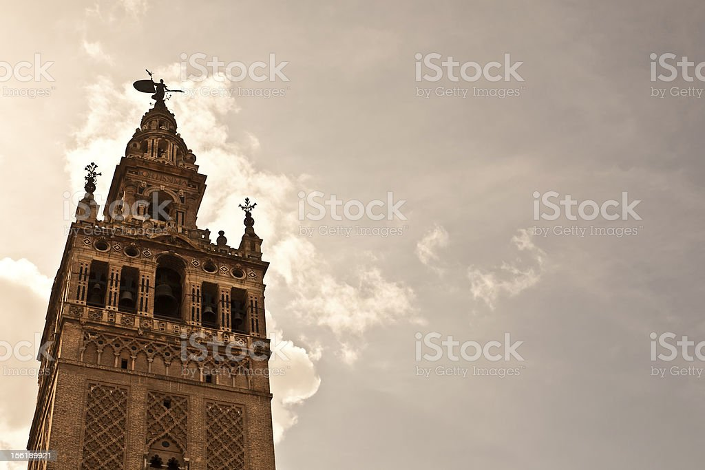 La Giralda, Cathedral Bell Tower, Spain stock photo