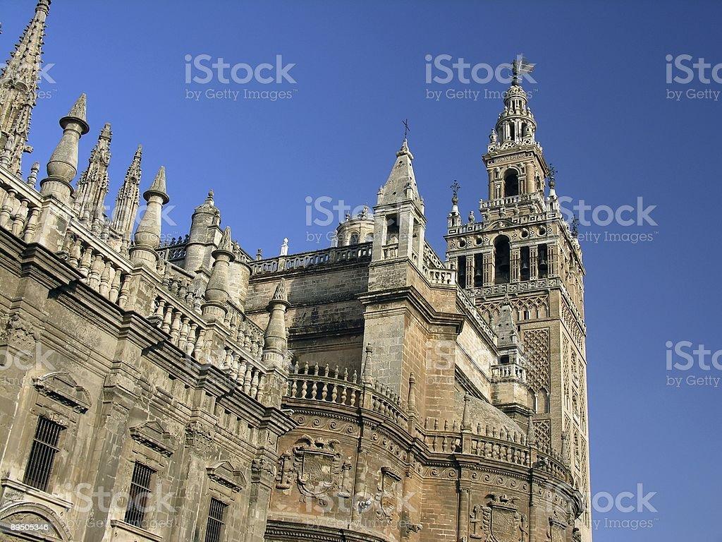 La Giralda Cathedral, Sevilla, Spain royalty-free stock photo