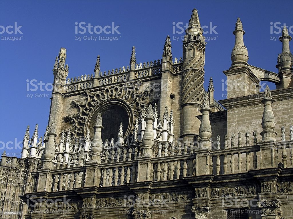 La Giralda Cathedral, Sevilla, Spain royalty-free stock photo