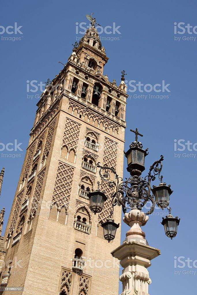 La Giralda Tower in Seville, Spain royalty-free stock photo