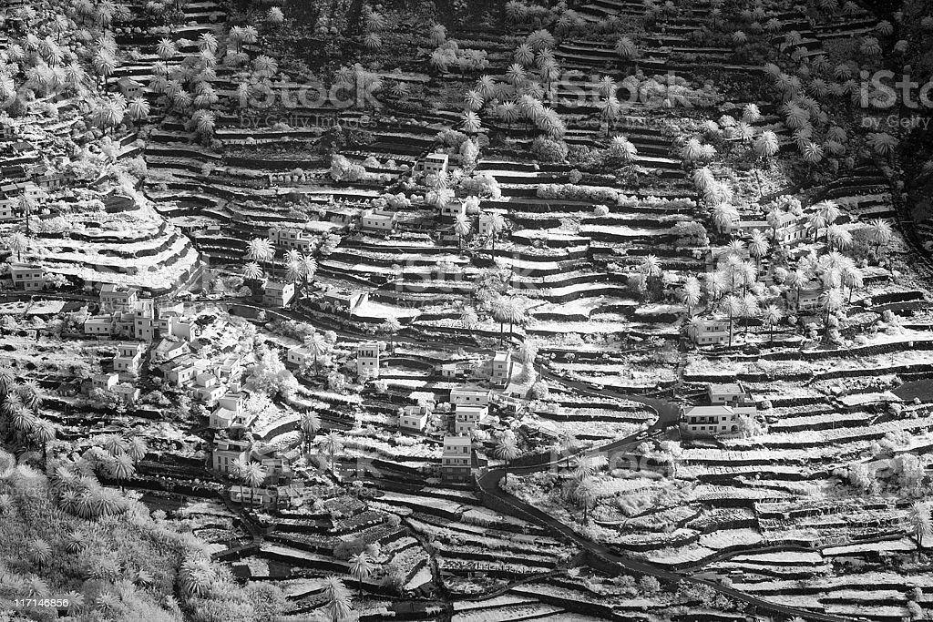 La Gomera in Infrared stock photo