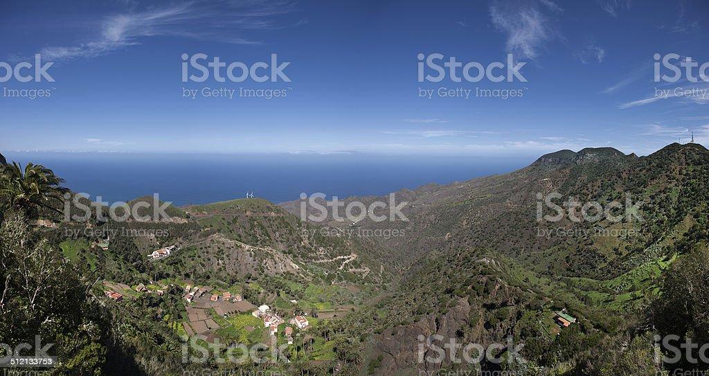 La Gomera - Panoramic view to the valley of Epina royalty-free stock photo