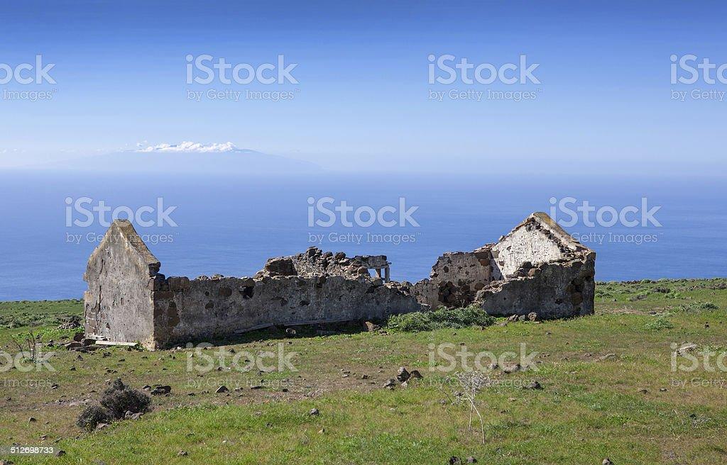 La Gomera - Ruin on the plateau of La Merica royalty-free stock photo