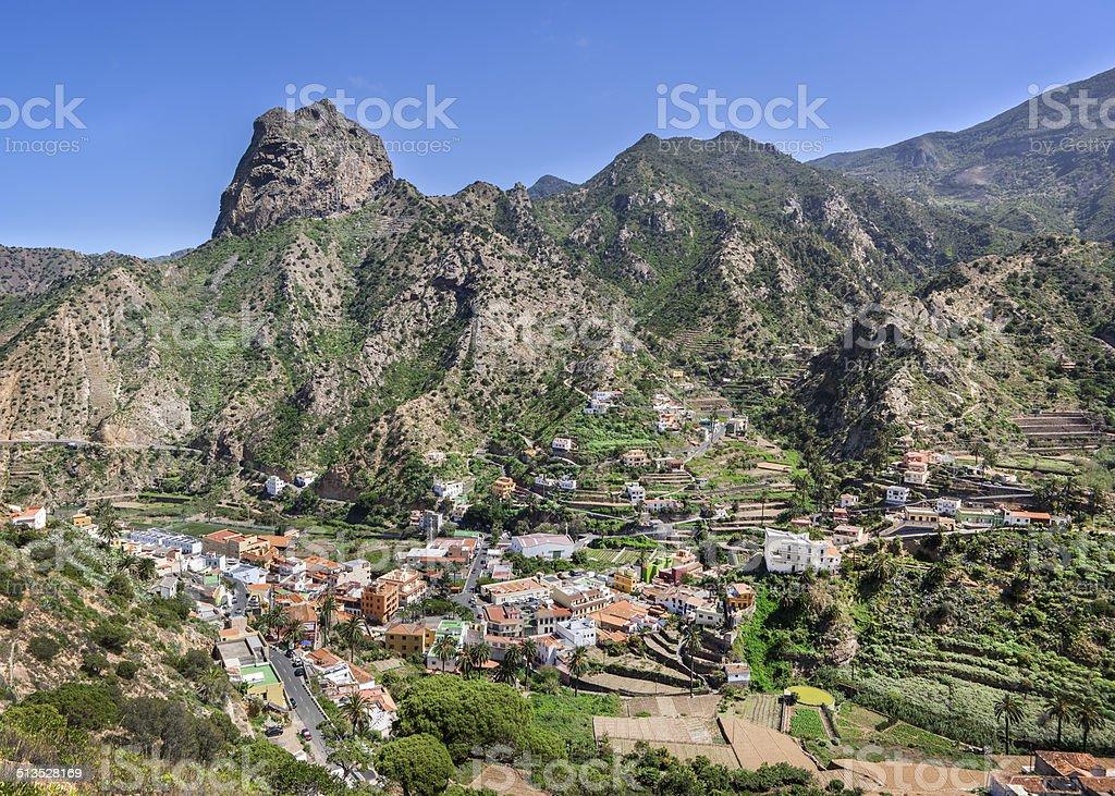 La Gomera - Vallehermoso with Roque El Cano royalty-free stock photo