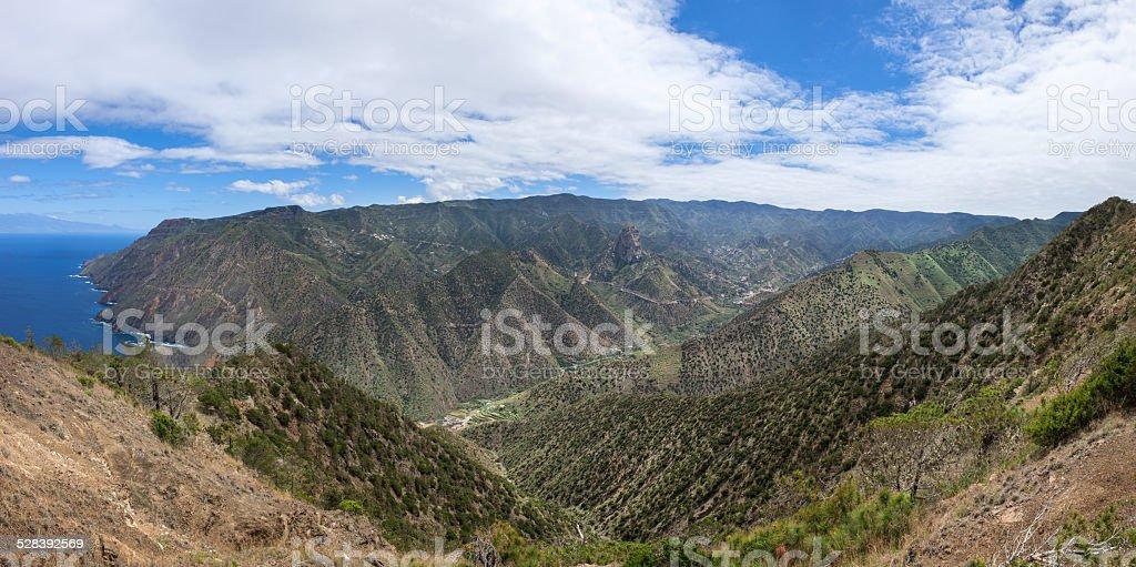 La Gomera - Valley of Vallehermoso with the north coast royalty-free stock photo