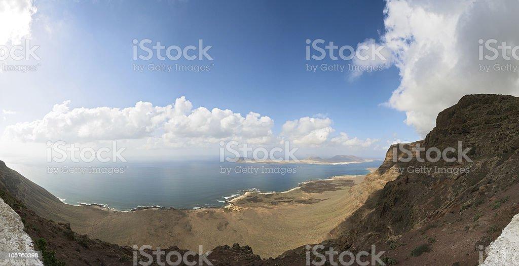 La Graciosa panorama royalty-free stock photo