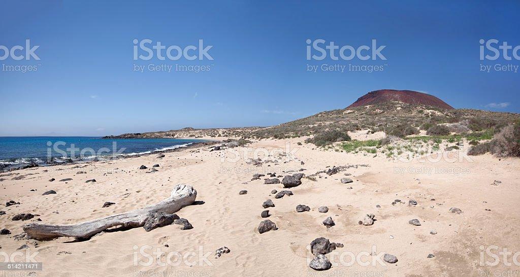 La Graciosa - Wild sand beach at Playa Francesa royalty-free stock photo