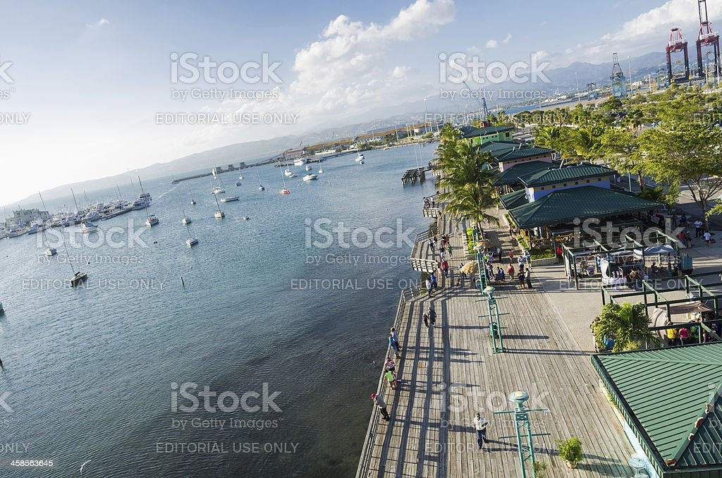 La Guancha Boardwalk along the water in Ponce, Puerto Rico royalty-free stock photo