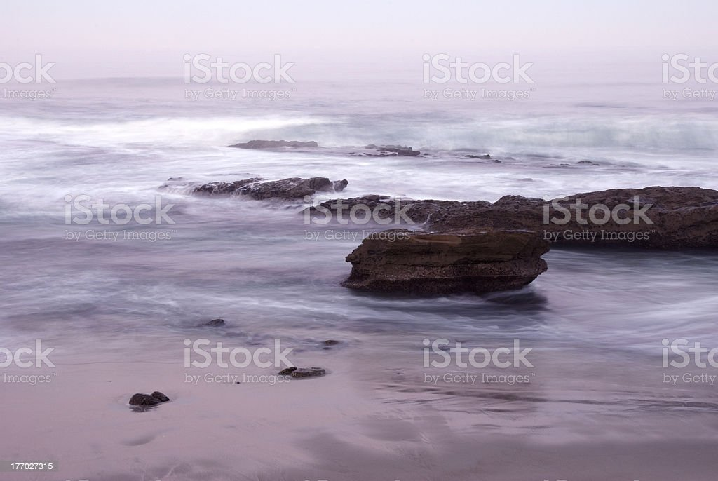 La Jolla Beach at Dawn stock photo