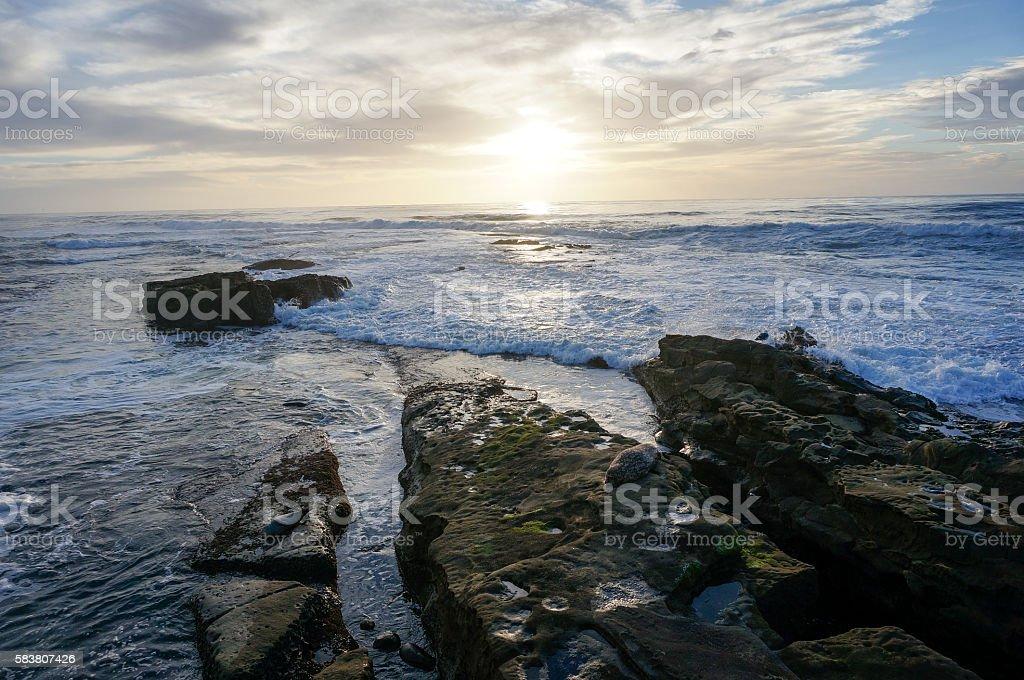 La Jolla beach, San Diego, California stock photo