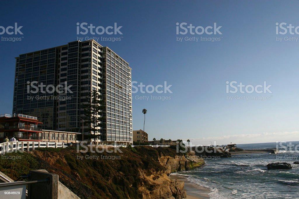 La Jolla Beachscape royalty-free stock photo