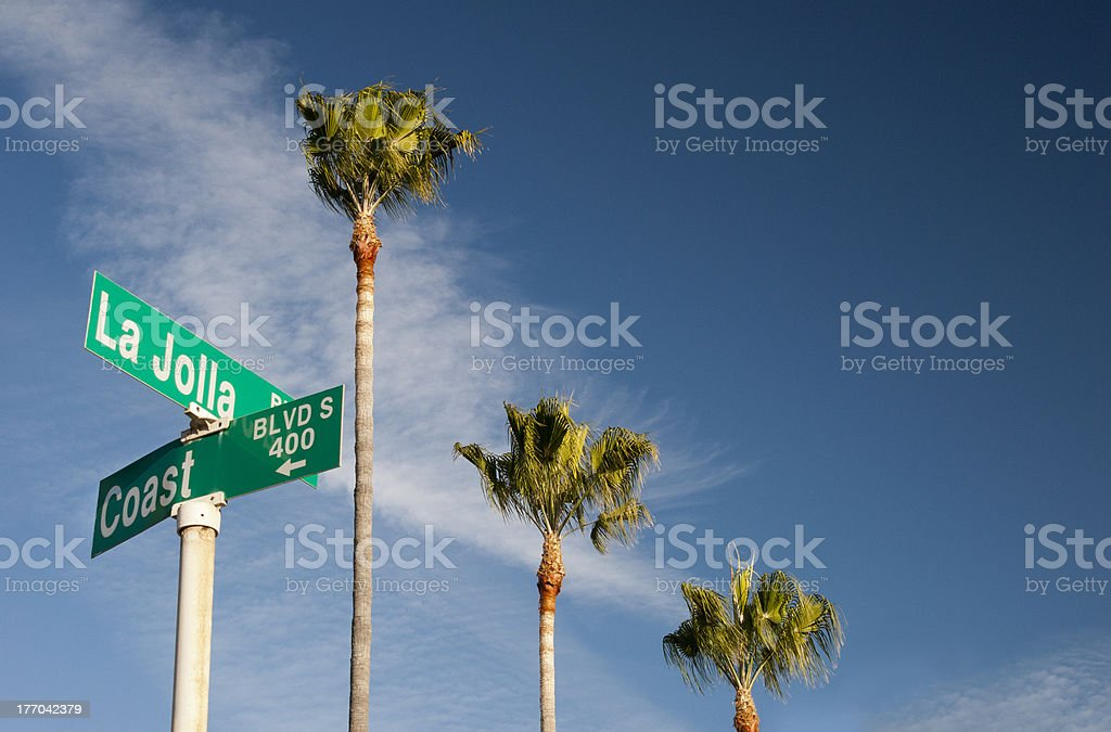 La Jolla Boulevard @ Coast stock photo
