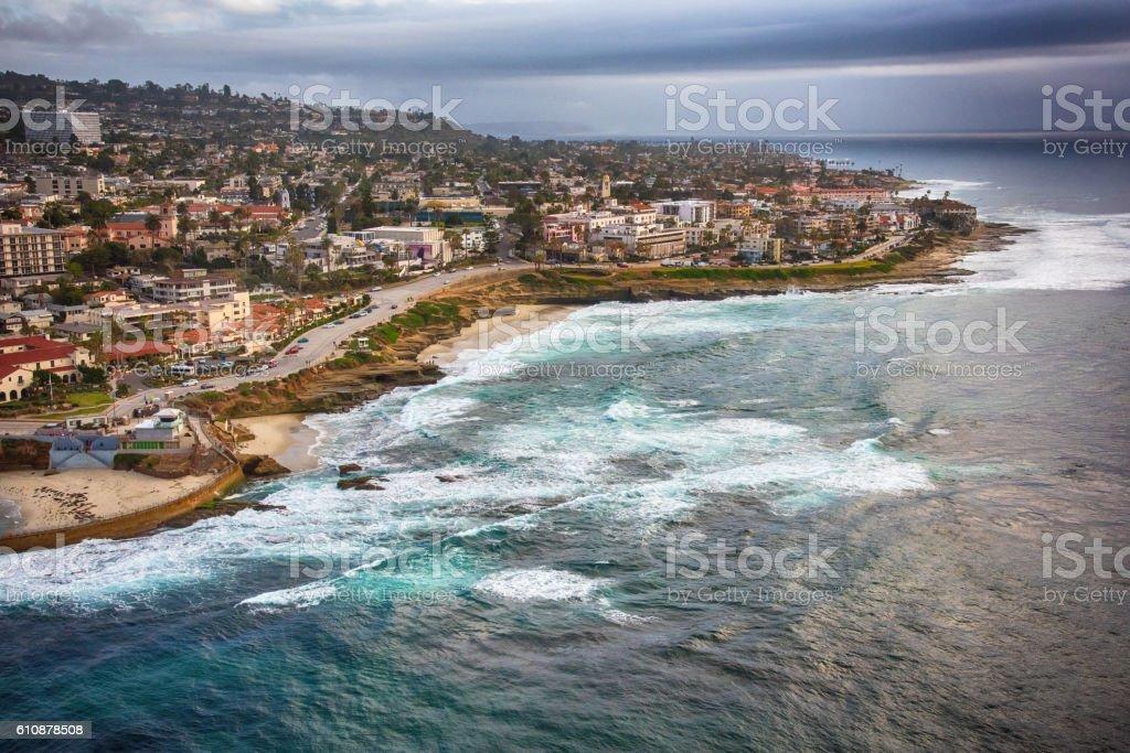 La Jolla California Aerial stock photo