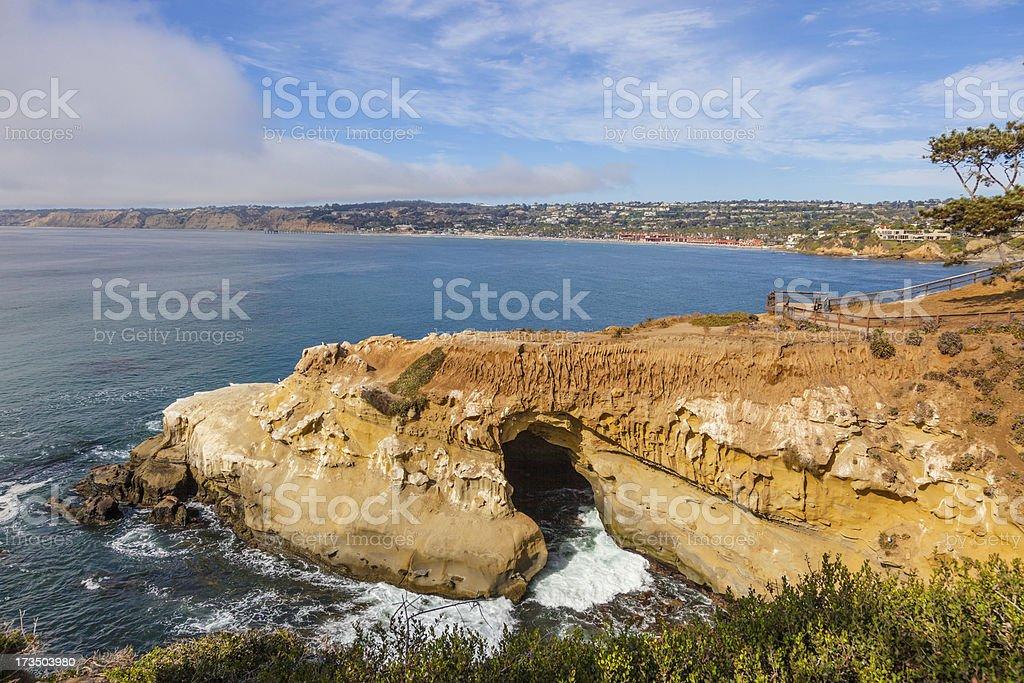 La Jolla coastline, CA royalty-free stock photo