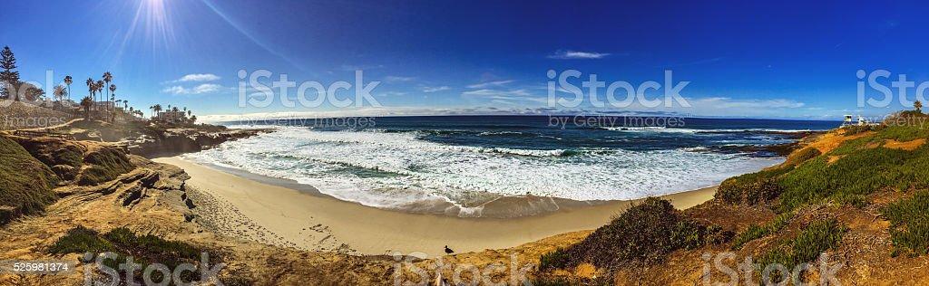 La Jolla coastline, California, USA stock photo
