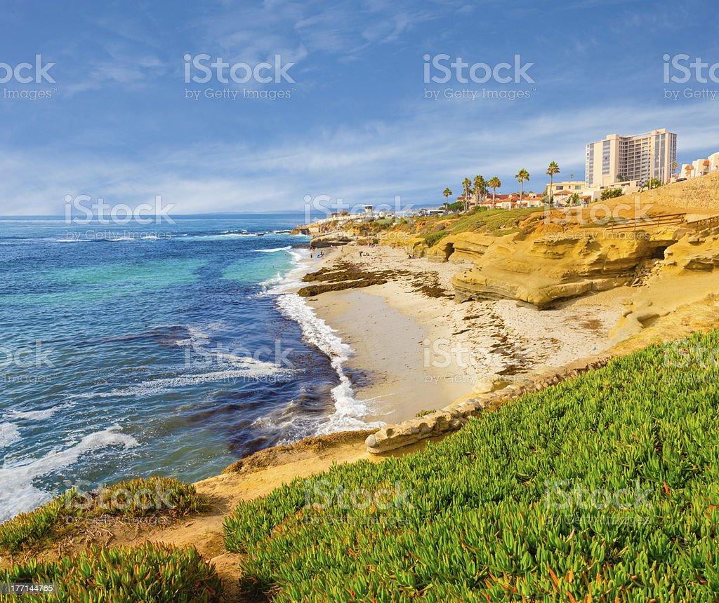 La Jolla coastline in Southern California (P) stock photo
