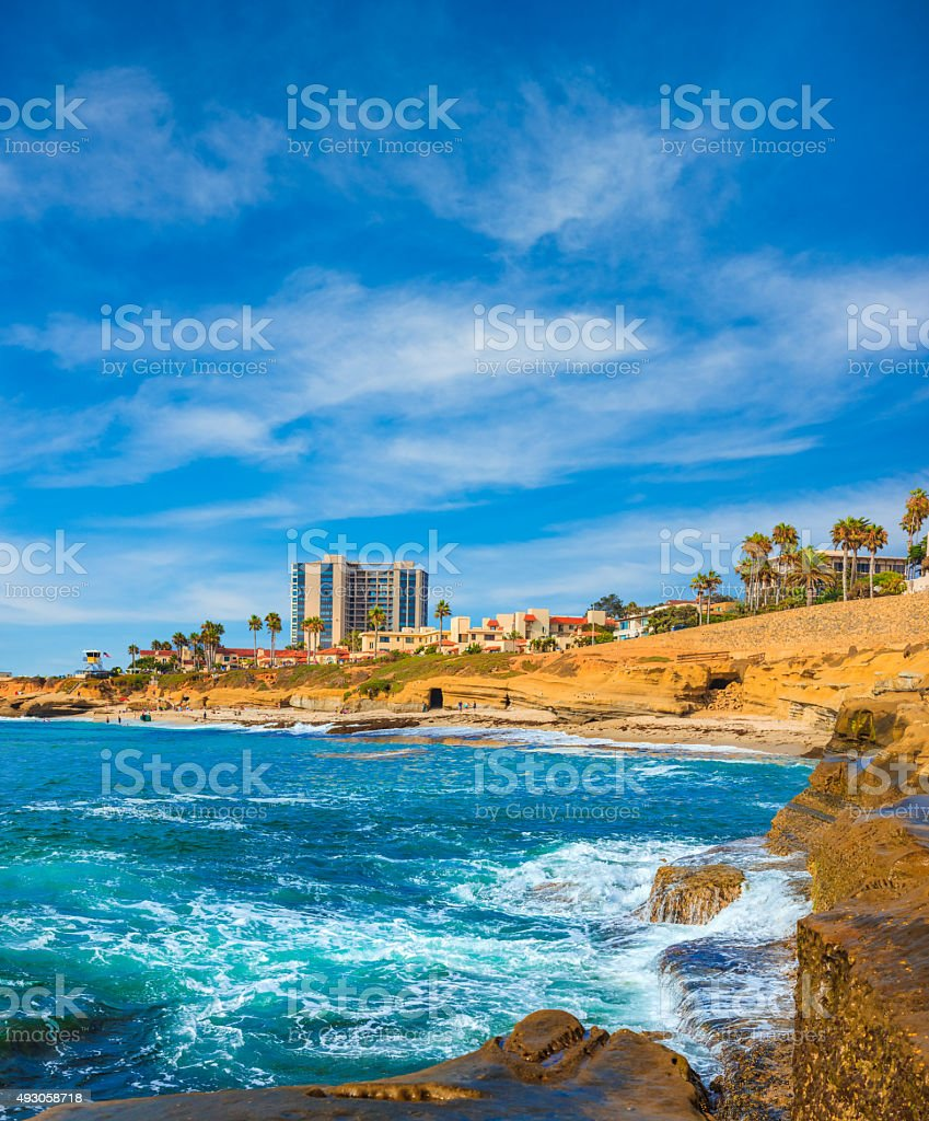 La Jolla coastline in Southern California,ocean,San Diego stock photo